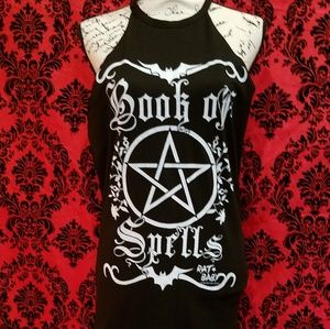 Witch Book of spells tank top shirt